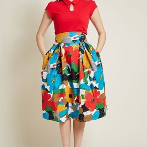 1ad91a6dcd Modcloth Skirts | Emily And Fin Far Out And Fabulous Skirt | Poshmark